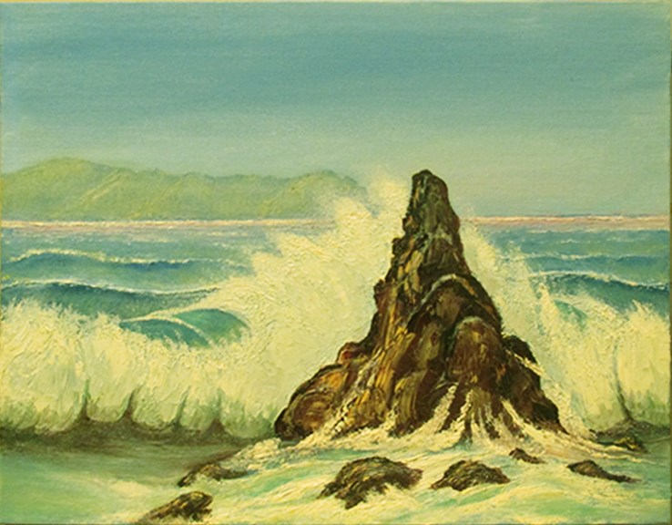"""Seascape 1"" original fine art by Mary Sylvia Hines"