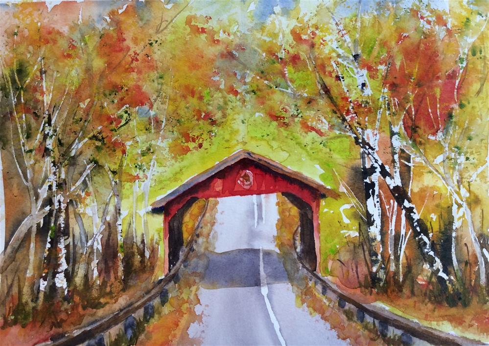 """Sleeping Bear Dunes Scenic Drive Michigan Bridge"" original fine art by Molly Rohrscheib Hathaway"