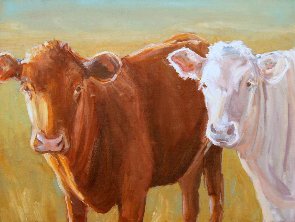 """happy moo year"" original fine art by Carol Carmichael"