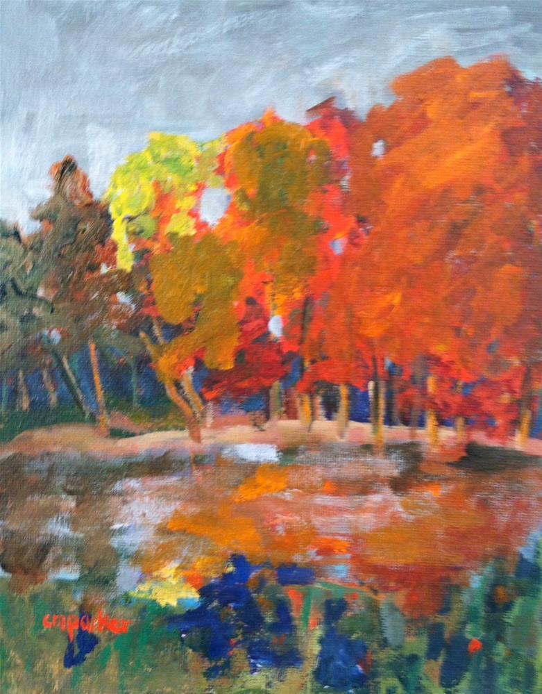 """""""Autumn landscape"""" original fine art by Christine Parker"""