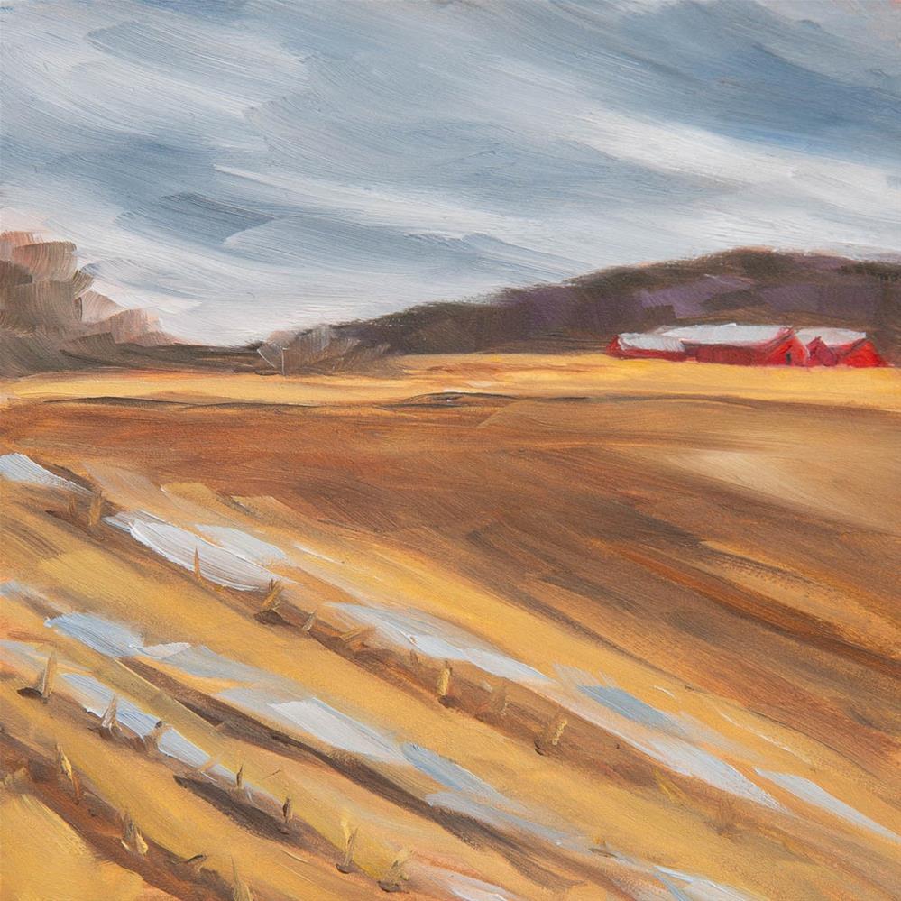 """#5 - Mud Season - Percy Farm - Stowe, VT"" original fine art by Sara Gray"