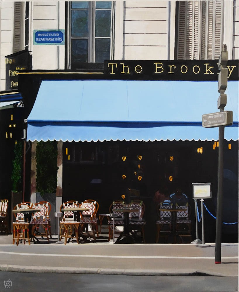 """The Brooklyn Cafe"" original fine art by Andre Beaulieu"