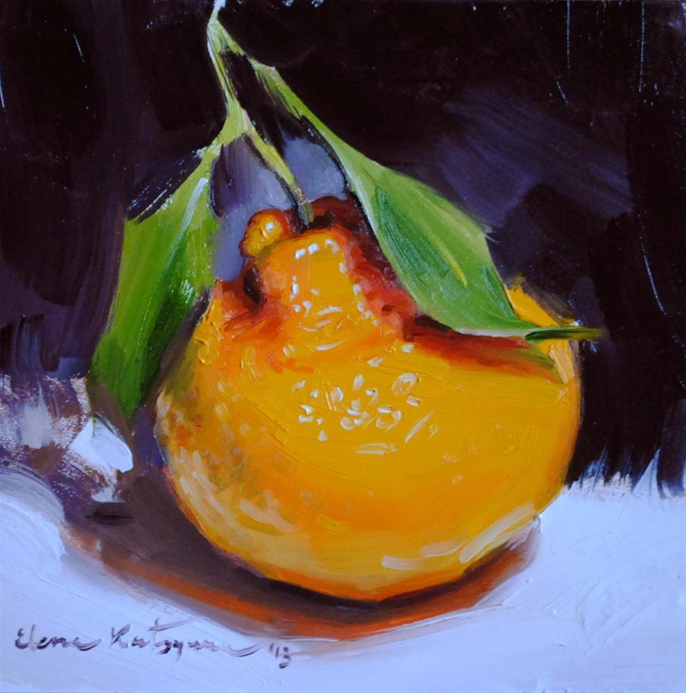 """Satsuma Orange"" original fine art by Elena Katsyura"