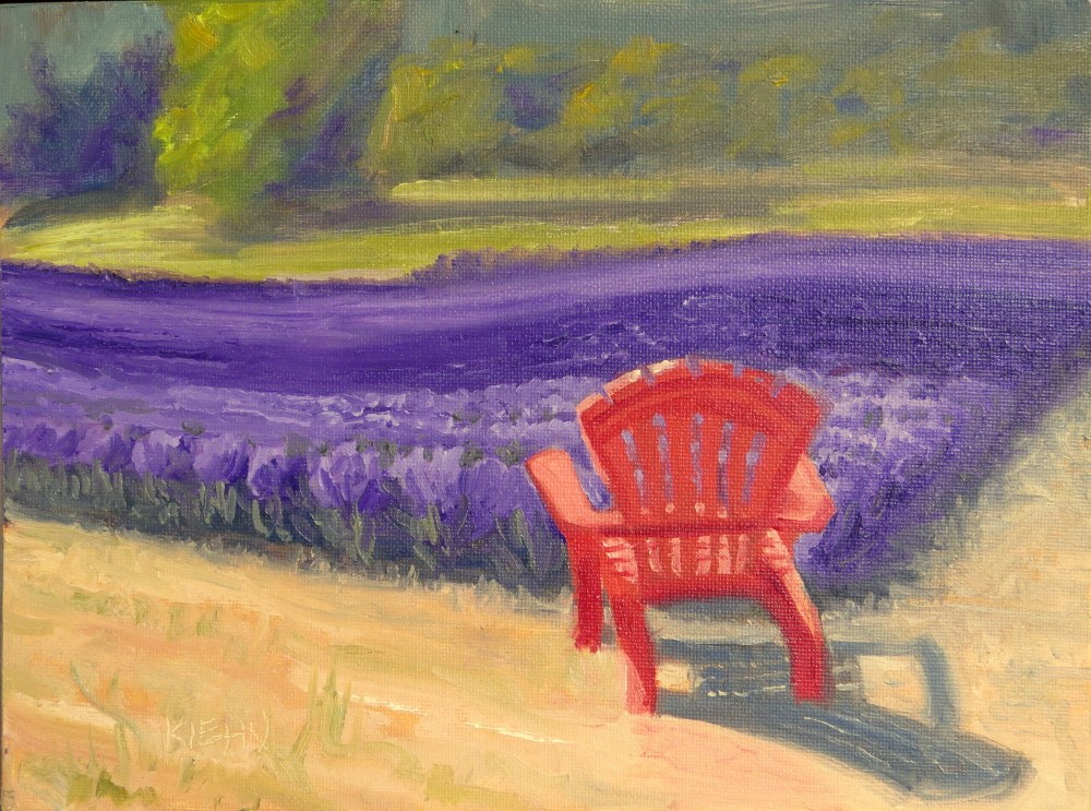 """""""Red y for Relaxation"""" original fine art by Richard Kiehn"""