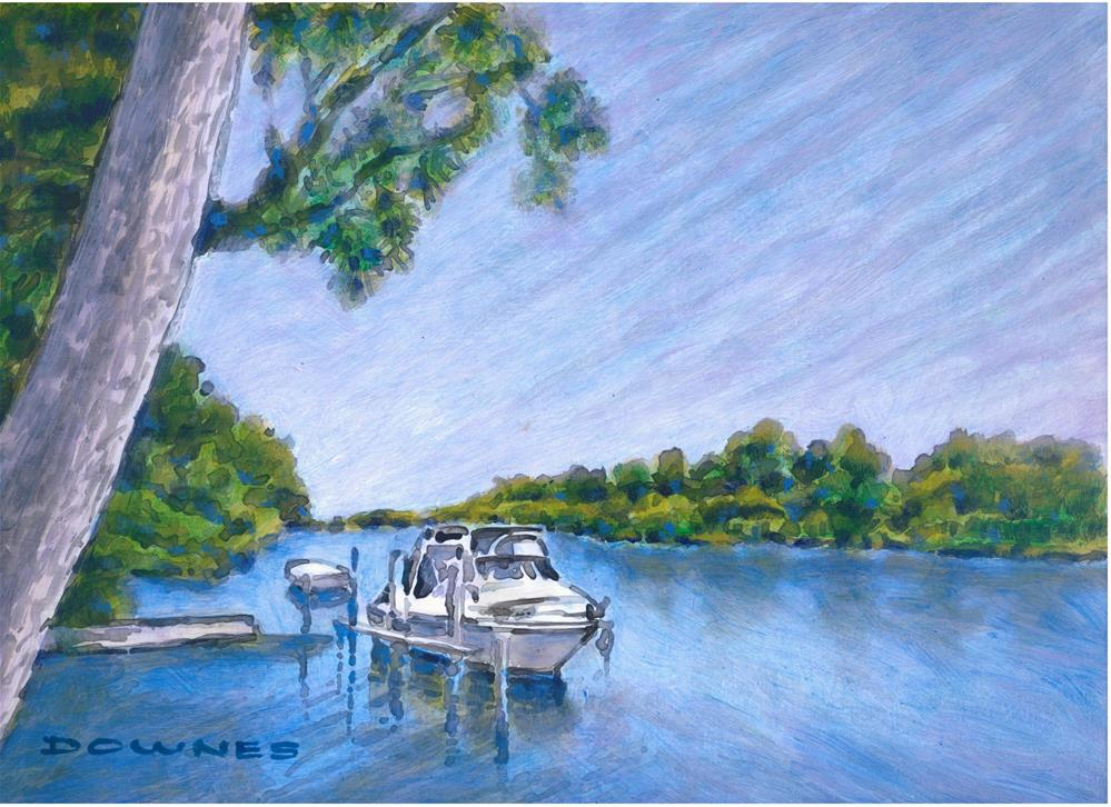 """045 SALT WATER CREEK 4"" original fine art by Trevor Downes"