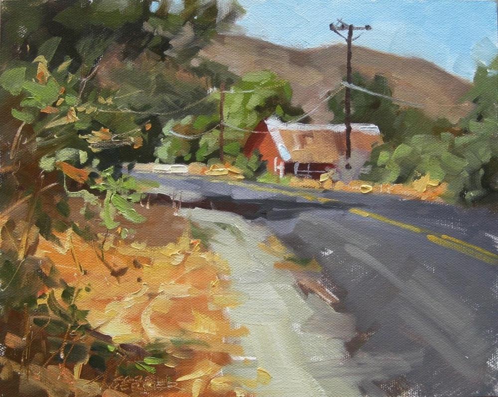 """Country Road"" original fine art by Karen Werner"