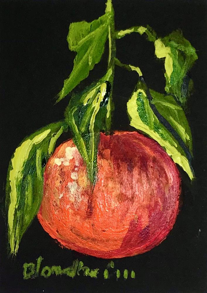 """""""Tangerine"""" original fine art by Linda Blondheim"""