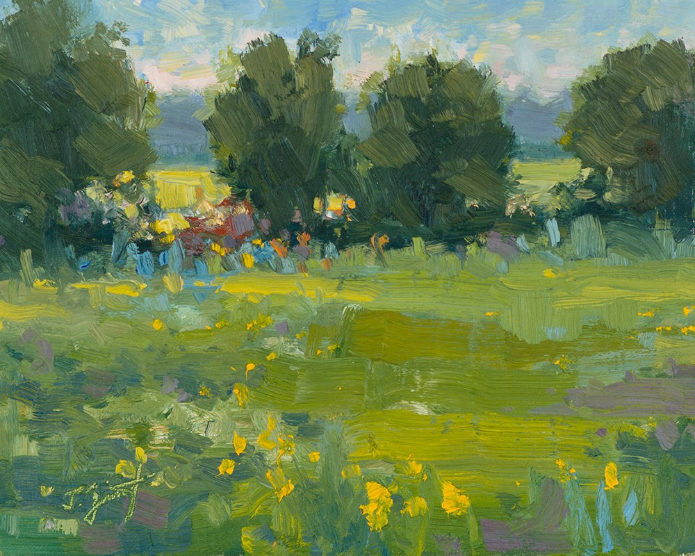"""""""Country Meadows"""" original fine art by Todd Zuithof"""