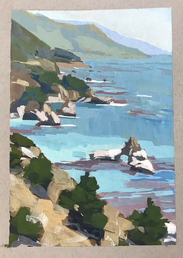 """Big Sur Coastline"" original fine art by Sharon Schock"