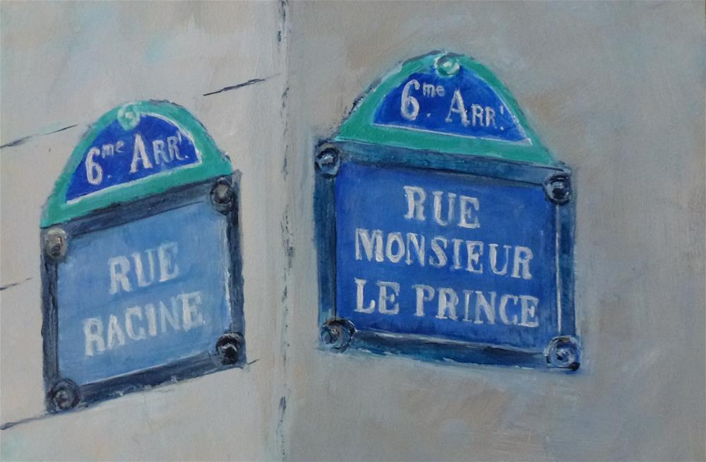 """6th Arrondissement, Paris No. 86"" original fine art by Judith Elder"