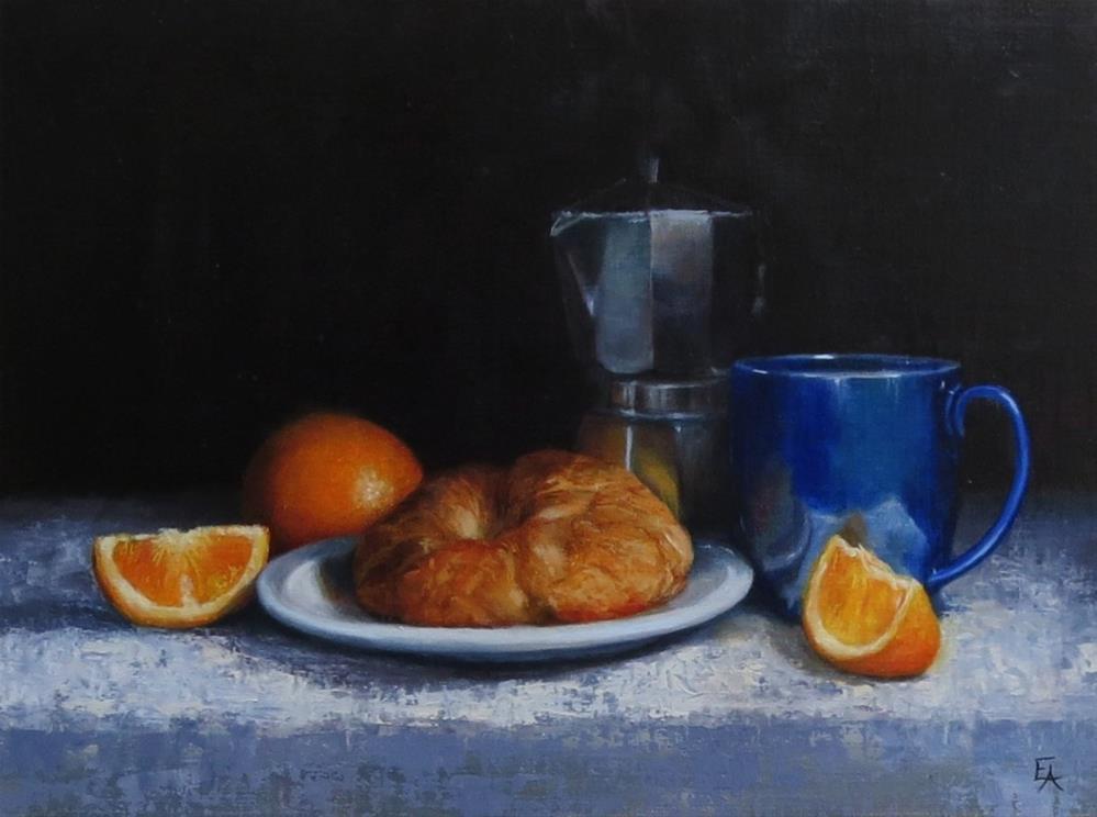 """""""Le Croissant (framed)"""" original fine art by Elizabeth Elgin"""