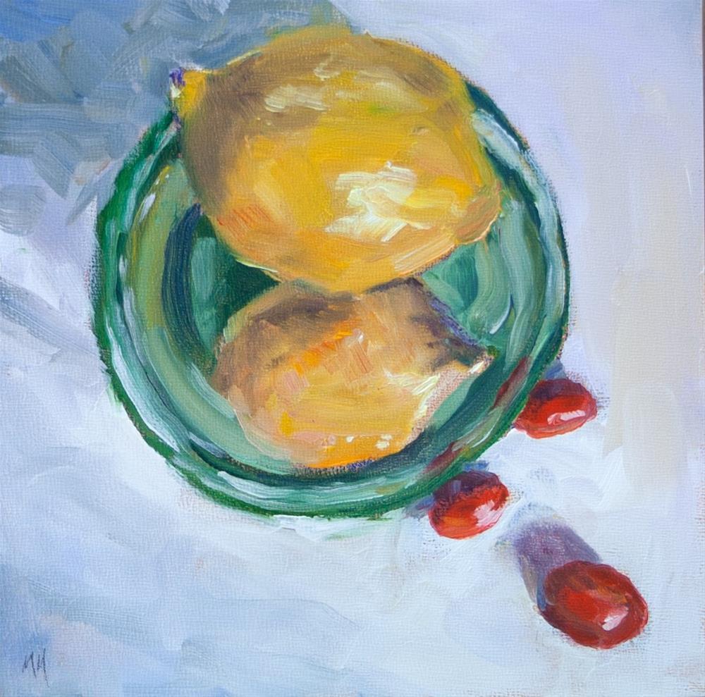 """""""Lemon #4"""" original fine art by Maria McNitt"""