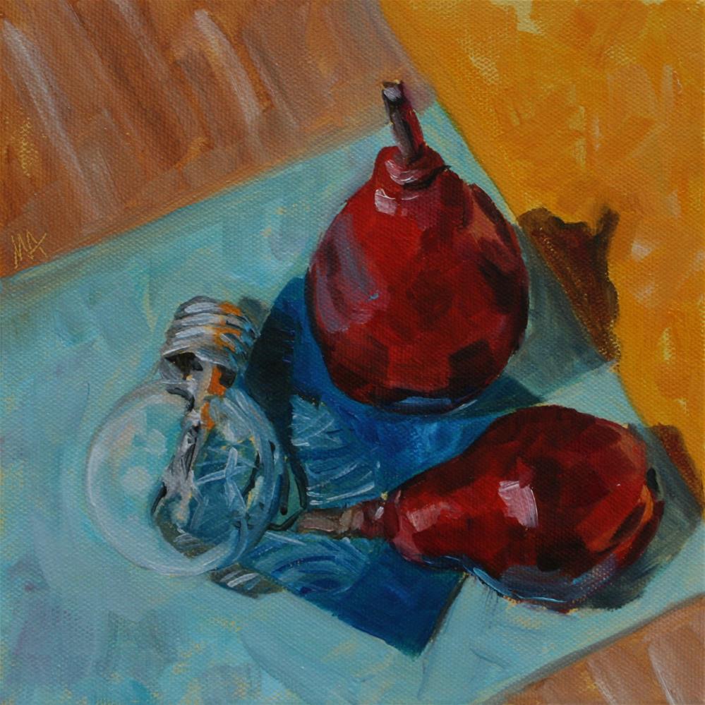 """Pear-Friendship"" original fine art by Aniko Makay"