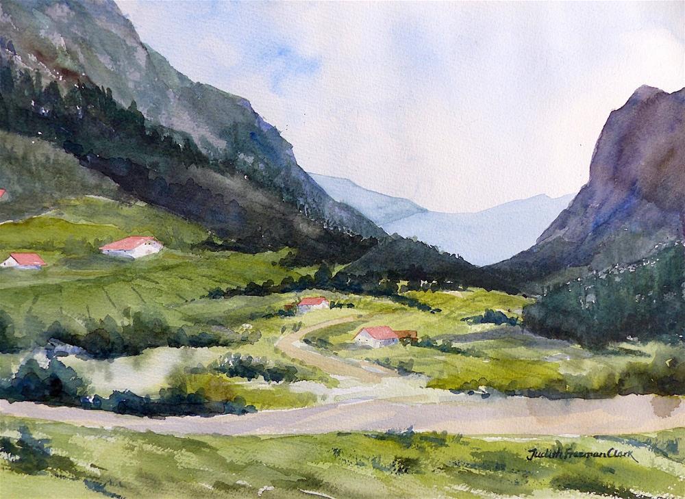 """""""West of Salzburg"""" original fine art by Judith Freeman Clark"""
