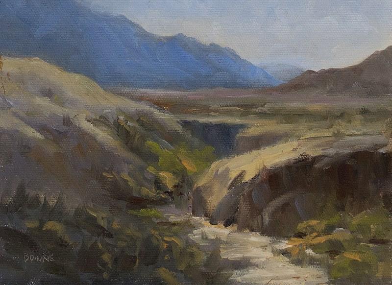 """Colorado Arroyo"" original fine art by Bonnie Bowne"