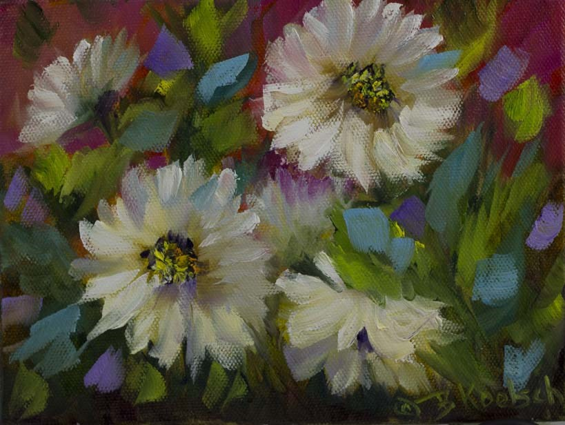 """Delicious Daisies"" original fine art by Bobbie Koelsch"