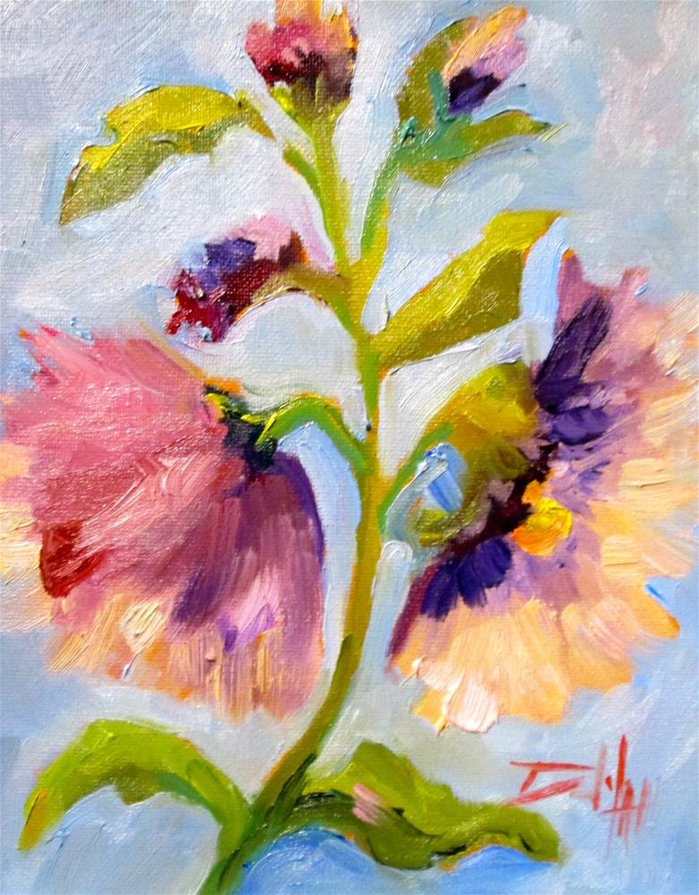 """Hollyhocks No. 4"" original fine art by Delilah Smith"