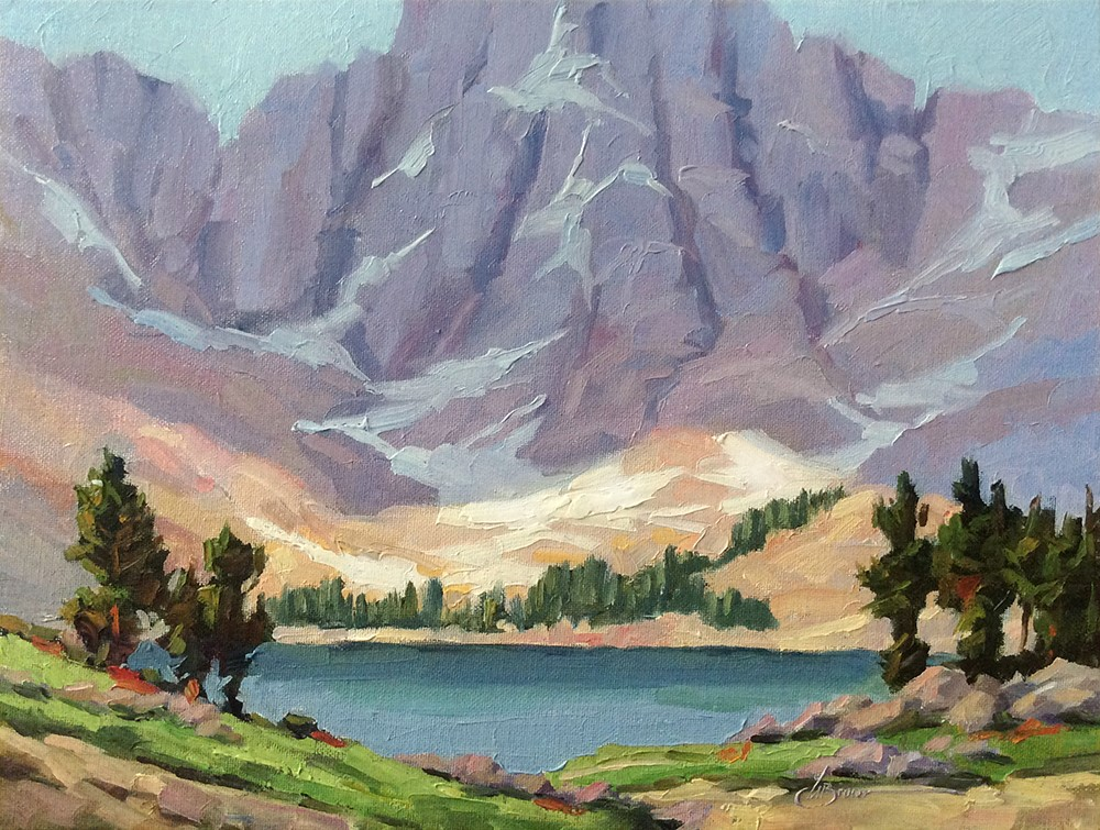 """SIERRA NEVADA MOUNTAINS"" original fine art by Tom Brown"