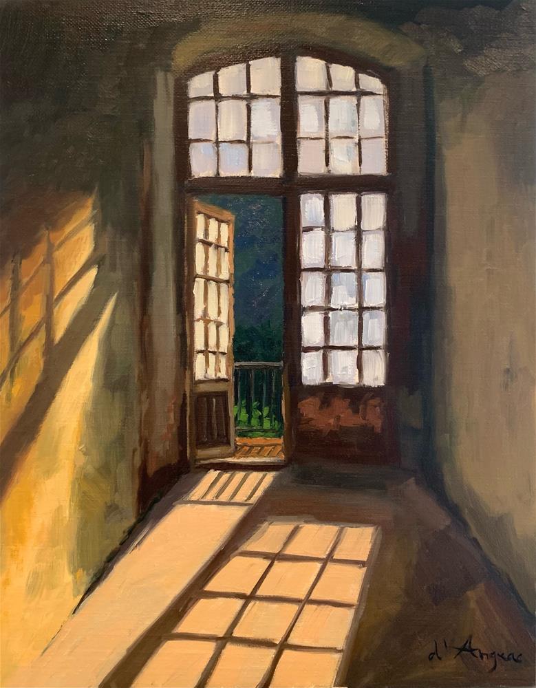 """""""Grand Entrance"""" original fine art by Karen D'angeac Mihm"""