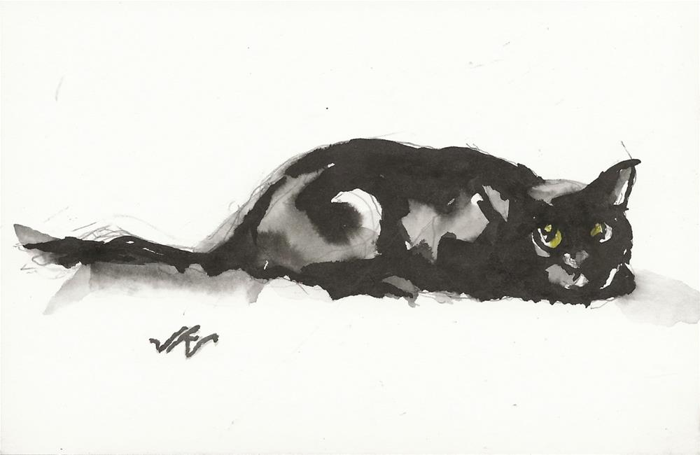 """Daily Cat 186"" original fine art by Jean Krueger"