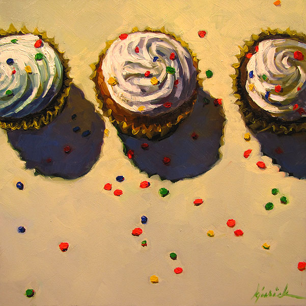 """Escape of the Orange Sprinkle"" original fine art by Karin Jurick"