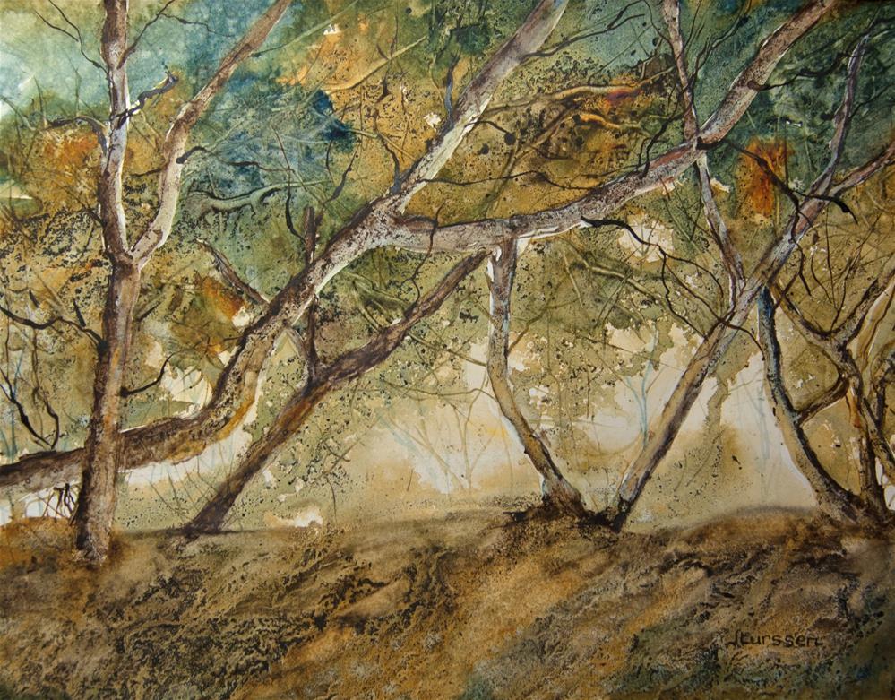 """Through The Woods"" original fine art by Jean Lurssen"