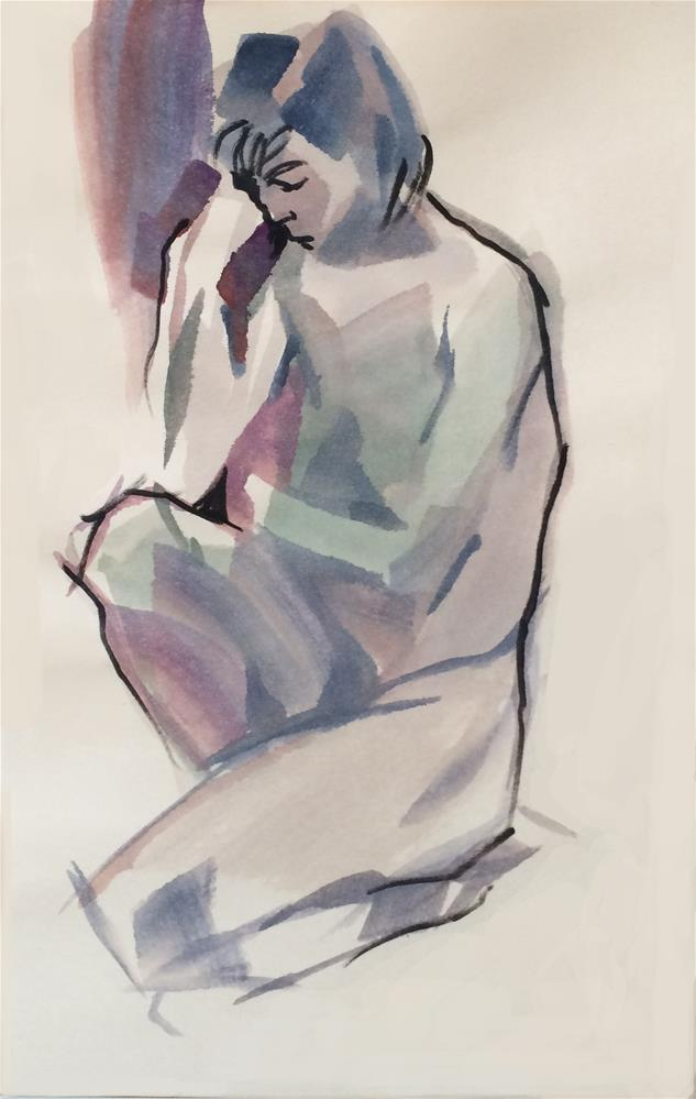 """Life Drawing 3"" original fine art by Nicoletta Baumeister"