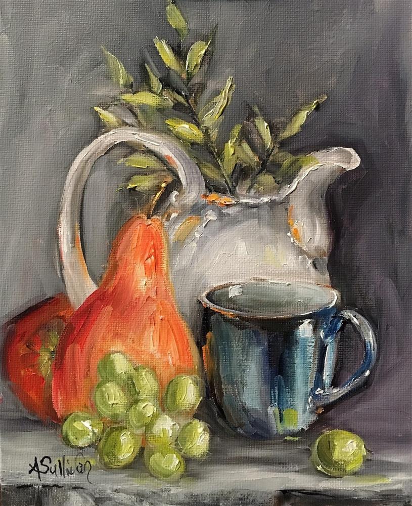 """Tomorrows Snack still life painting by Alabama Artist Angela Sullivan"" original fine art by Angela Sullivan"