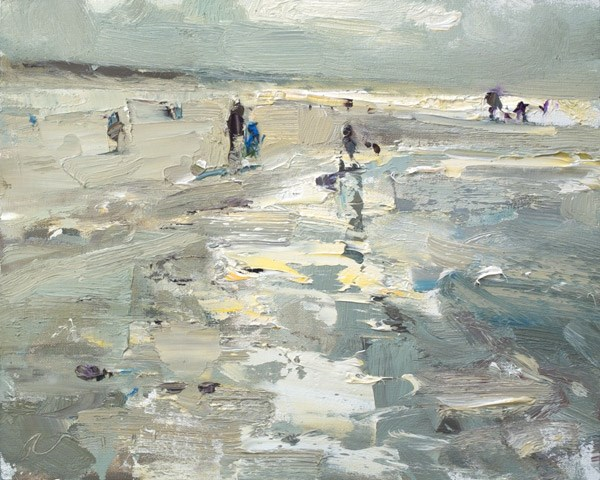 """""""How to Paint Water and Sand"""" original fine art by Roos Schuring"""
