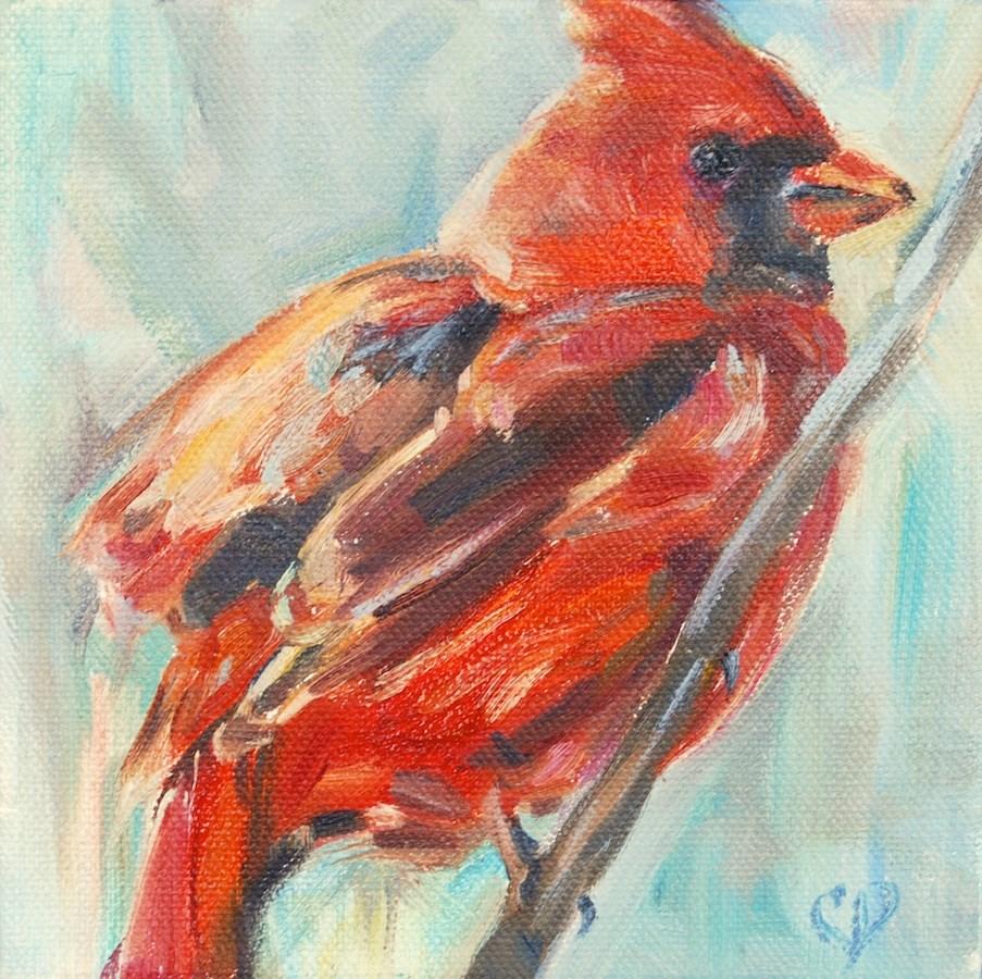 """Ruffled Feathers"" original fine art by Carol DeMumbrum"