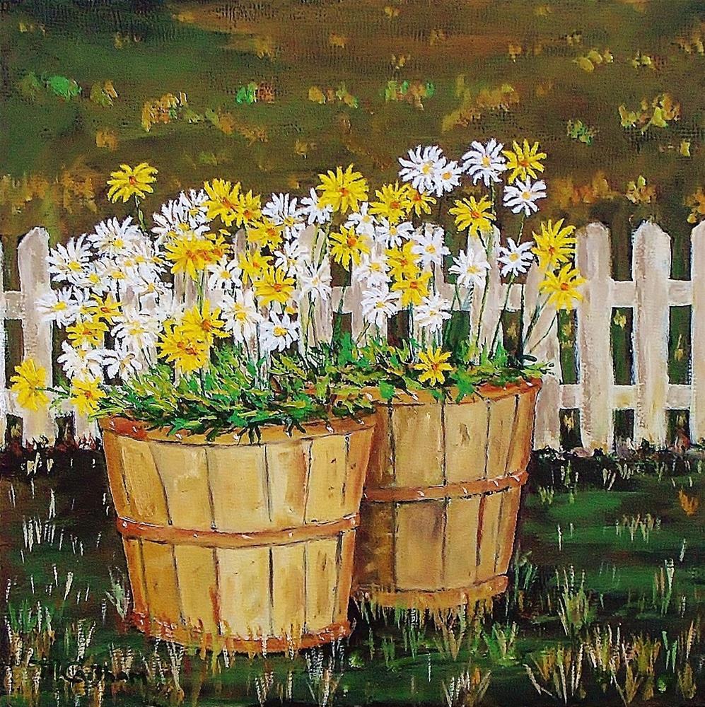 """""""Daisy Crazy"""" original fine art by Mike Caitham"""