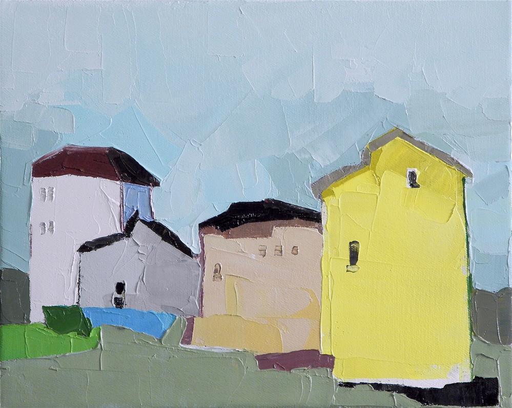 """One Yellow House"" original fine art by Donna Walker"