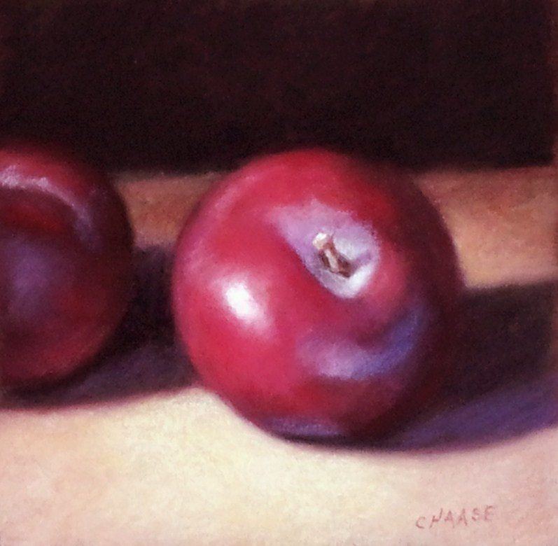 """""""Red Plums"""" original fine art by Cindy Haase"""