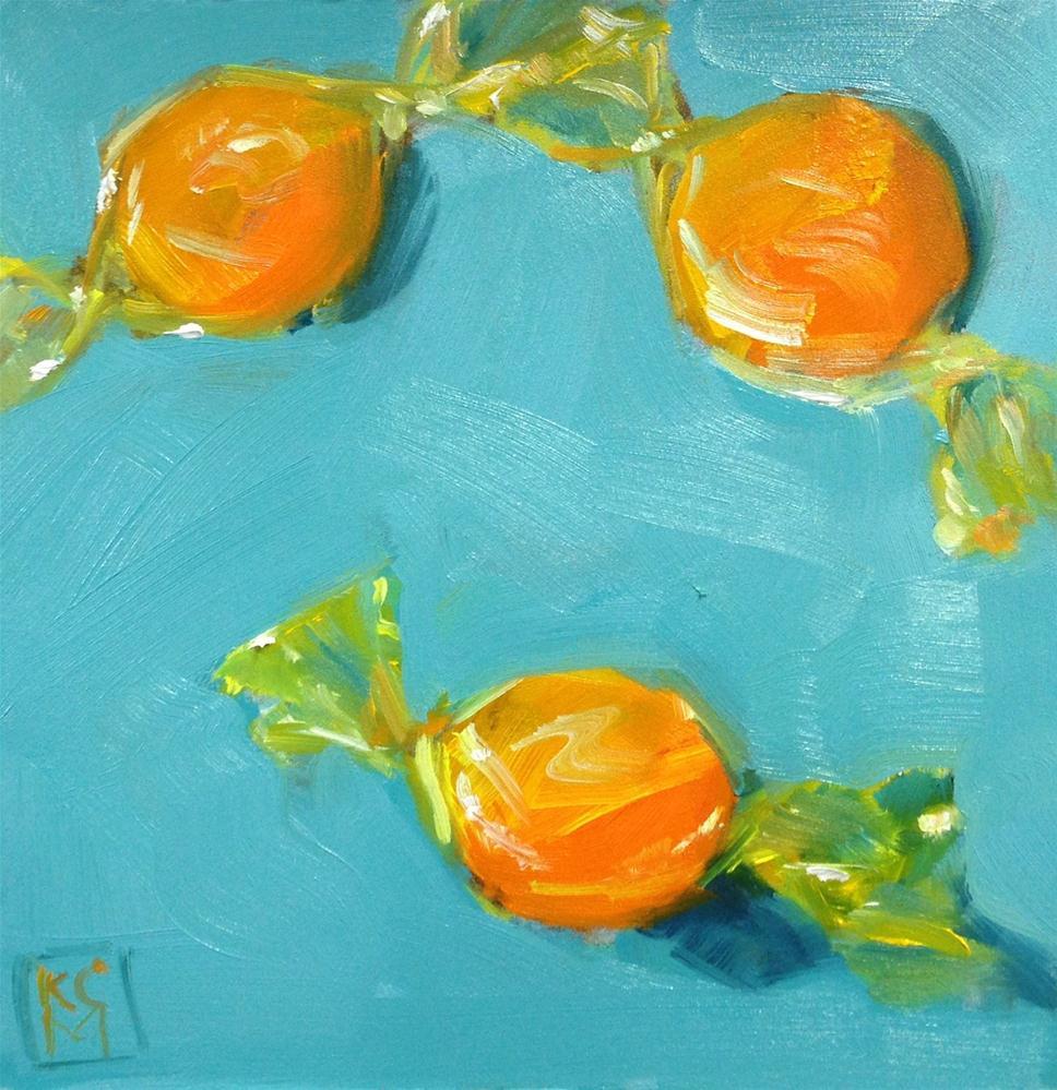 """Scotch, I Mean Butterscotch, 6x6 Inch Oil Painting by Kelley MacDonald"" original fine art by Kelley MacDonald"
