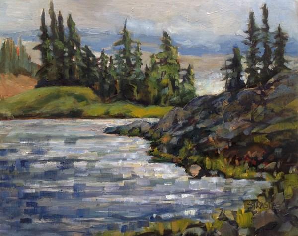 """""""Hourglass Lake"""" original fine art by Marcela Strasdas"""