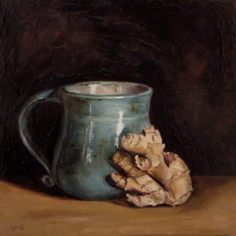 """A Drink with Ginger"" original fine art by Ulrike Miesen-Schuermann"
