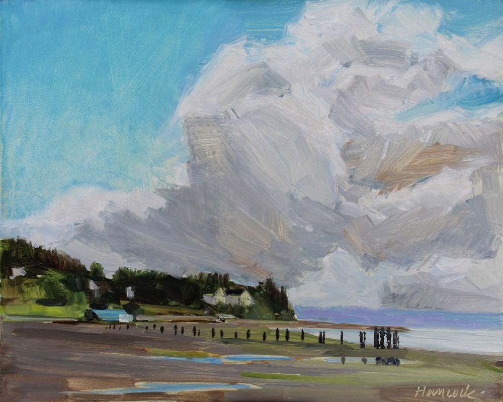 """""""Ellisport with Clouds"""" original fine art by Gretchen Hancock"""