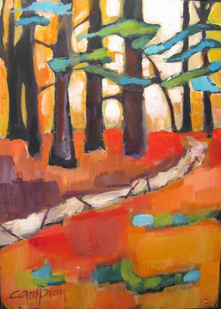"""274. Cedars"" original fine art by Diane Campion"