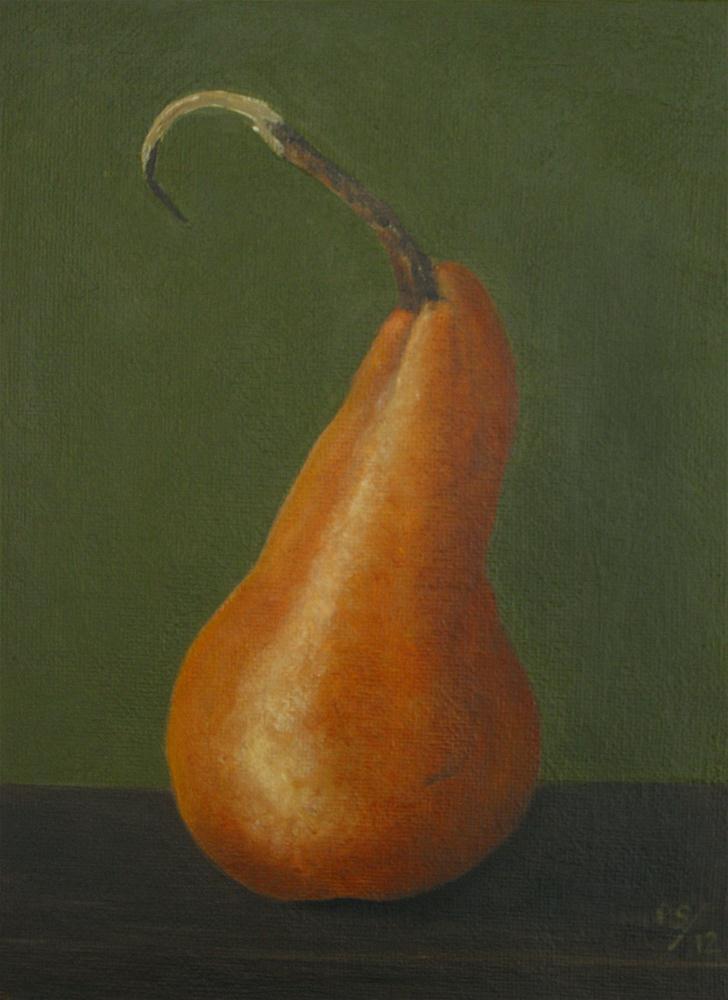 """""""Beurre bosc Pear II"""" original fine art by Pera Schillings"""