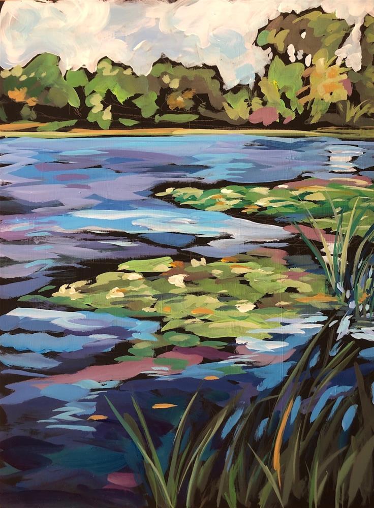 """Keller Lake, August"" original fine art by Kat Corrigan"