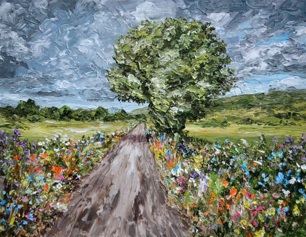 """Spring Through Moor Lane"" original fine art by Gloria Ester"
