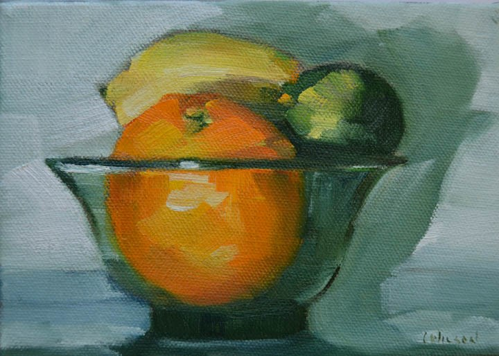 """Citrus Bowl"" original fine art by Cheryl Wilson"
