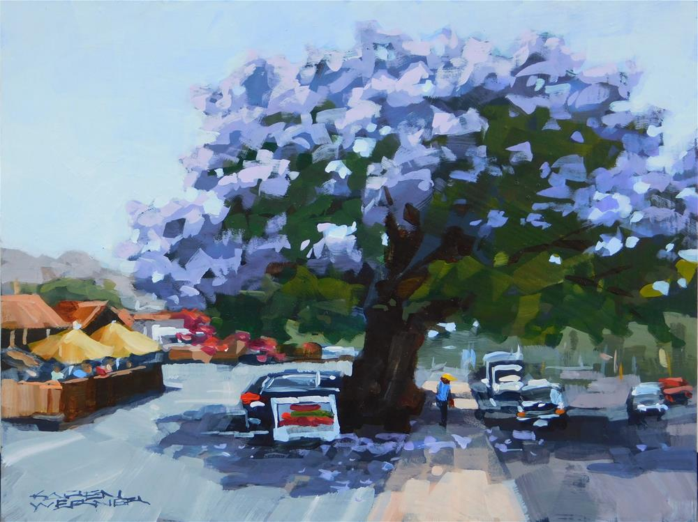 """Jacaranda Too"" original fine art by Karen Werner"