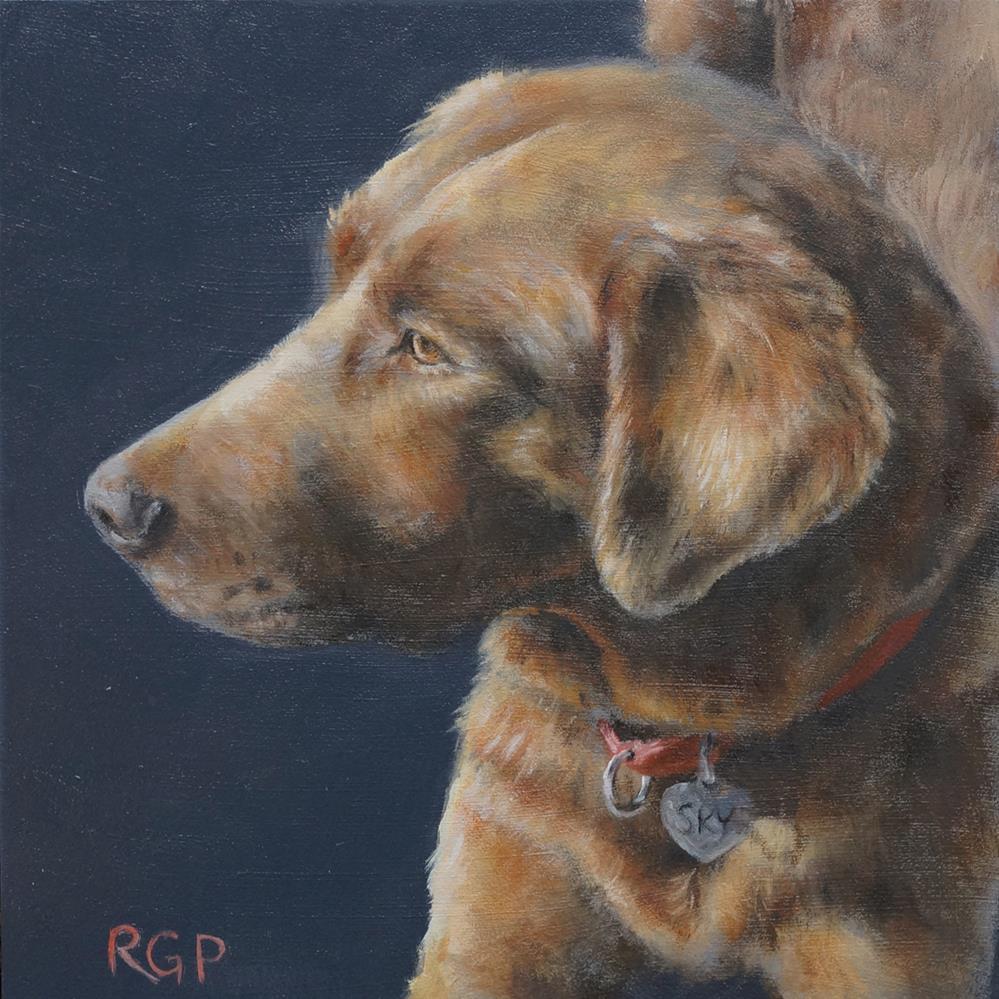"""Sky Dog"" original fine art by Rhea  Groepper Pettit"