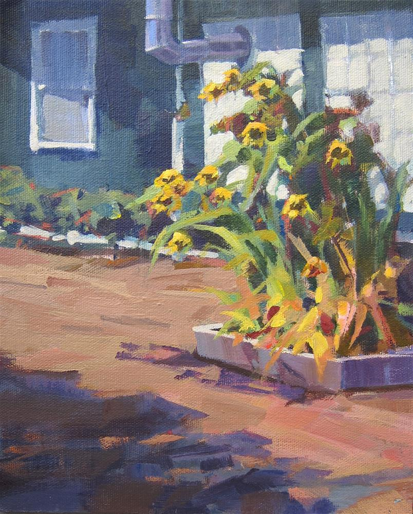 """Studio Sunflowers"" original fine art by Patti Mollica"