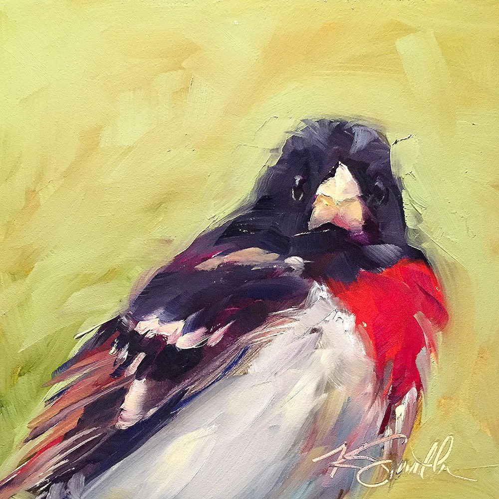 """rose-breasted grosbeak"" original fine art by Kim Smith"