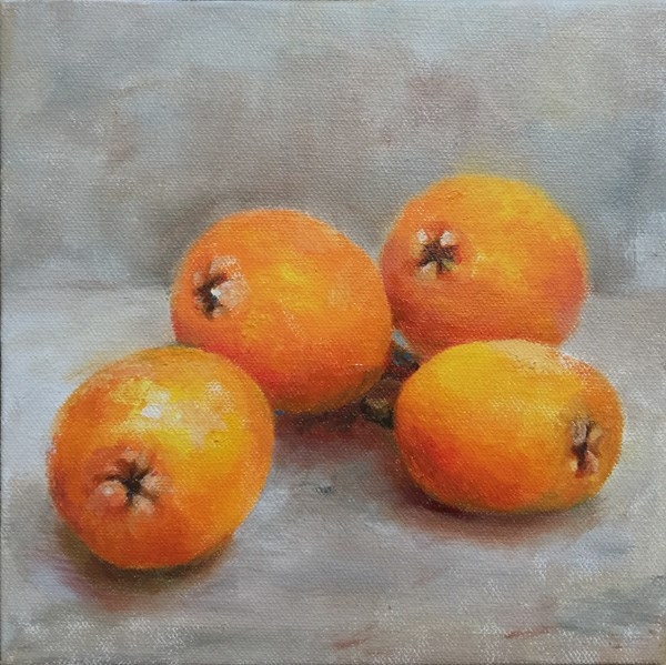 """loquat"" original fine art by Joy Cai"