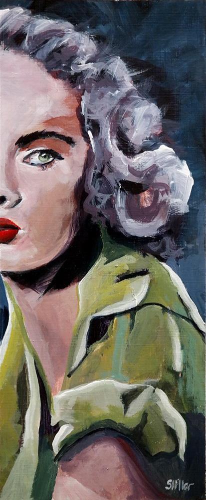 """""""2291 Half a Woman"""" original fine art by Dietmar Stiller"""