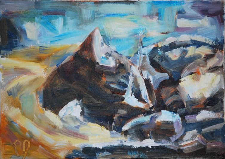 """Snoozing"" original fine art by Carol DeMumbrum"