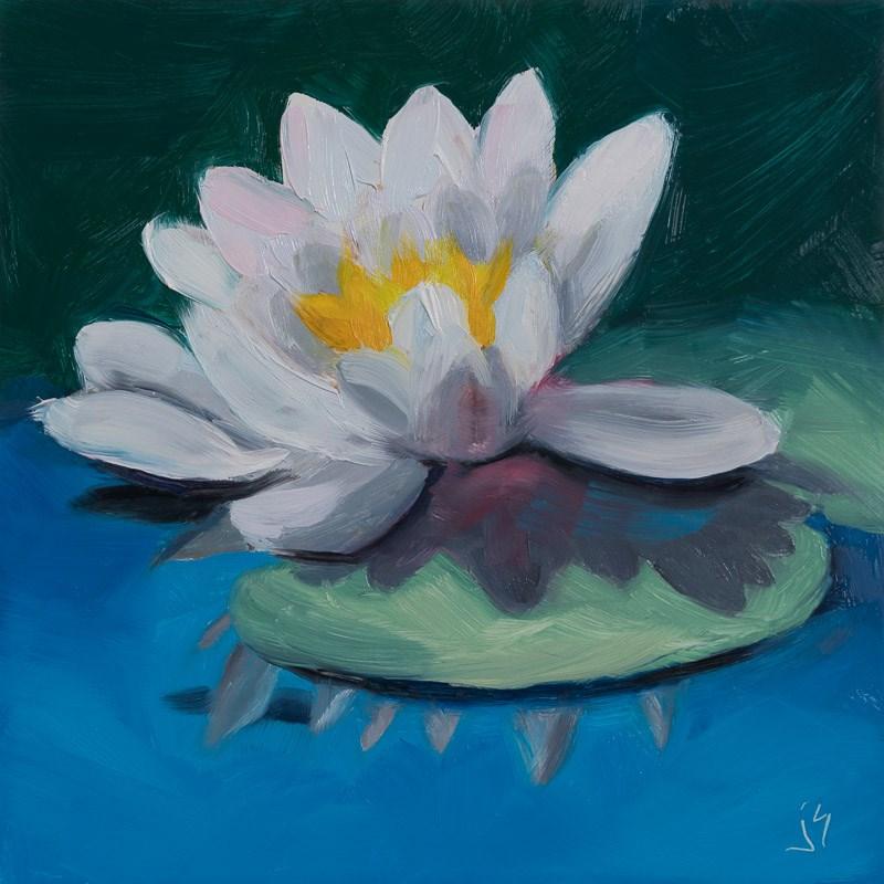 """""""Sunlit Waterlily"""" original fine art by Johnna Schelling"""